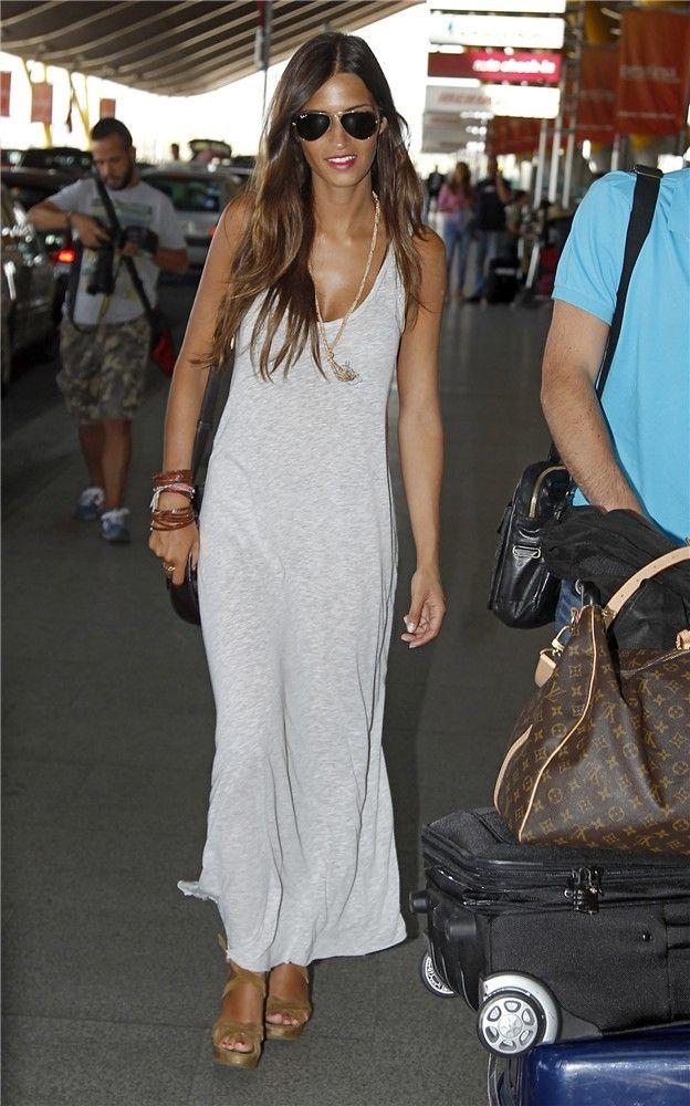 Sara Carbonero con su 'look aeropuerto'