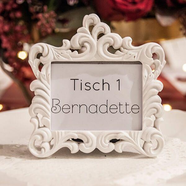 Hochzeitsdeko Mini Fotorahmen Barock Weiss Ein Designerstuck Von Weddix Bei Dawanda Fotorahmen Hochzeitsdeko Dekoration