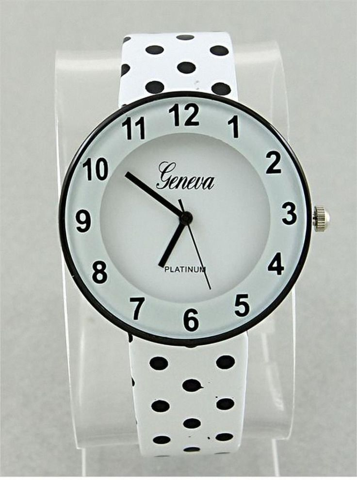 watches women fossil nixon #dots #black&white