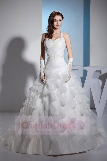 Junoesque  Wedding Dresses #cherishdress# classic simple but eye-catching bridal gown