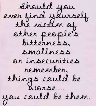 Being the one that belittles others is so much worse than being belittled.