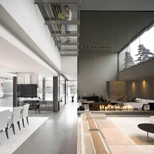 modernes Loft Interieur weiße Wände