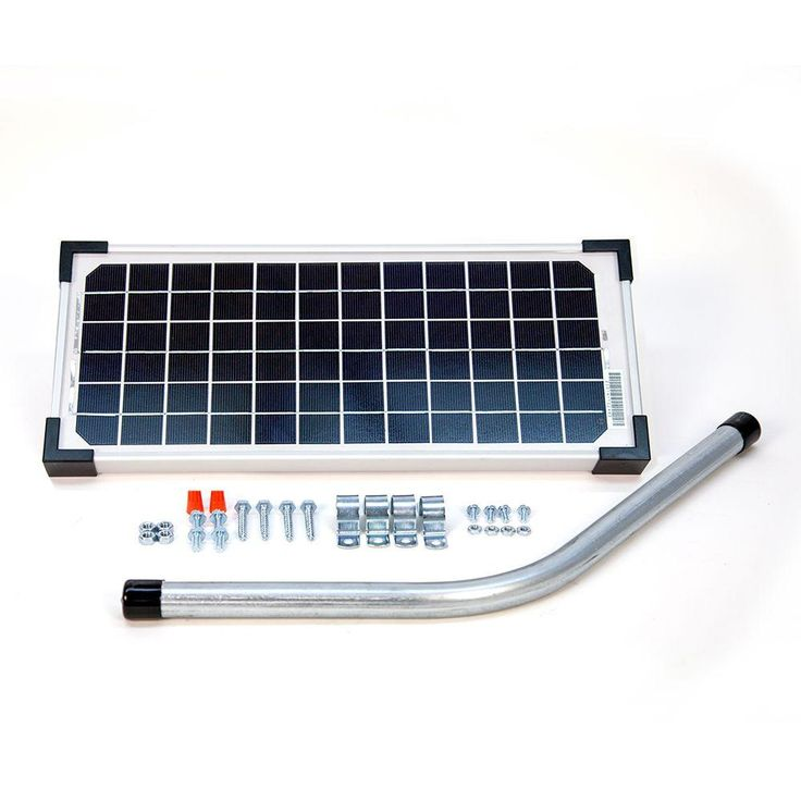 Mighty Mule 10-Watt Solar Panel Kit for Electric Gate Opener-FM123 - The Home Depot
