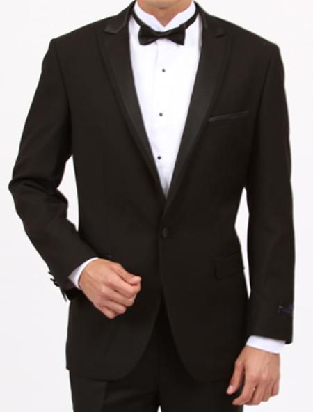 1 Button Slim Fit Black Tuxedo  Price: US $199
