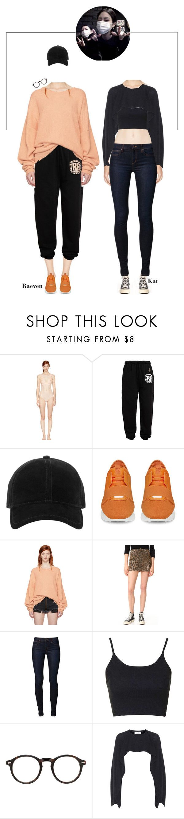 """""""Kat & Raeven ( S'nD ) • Bloodstream • Dance Practice"""" by purrfectas ❤ liked on Polyvore featuring STELLA McCARTNEY, Vision Street Wear, rag & bone, Balenciaga, Unravel, R13, Joe's Jeans, Topshop, Moscot and Valentino"""