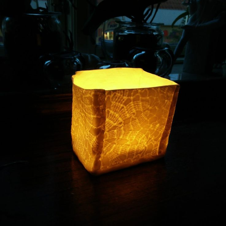 """Beautiful porcelain candlestick holder for dark winter nights."