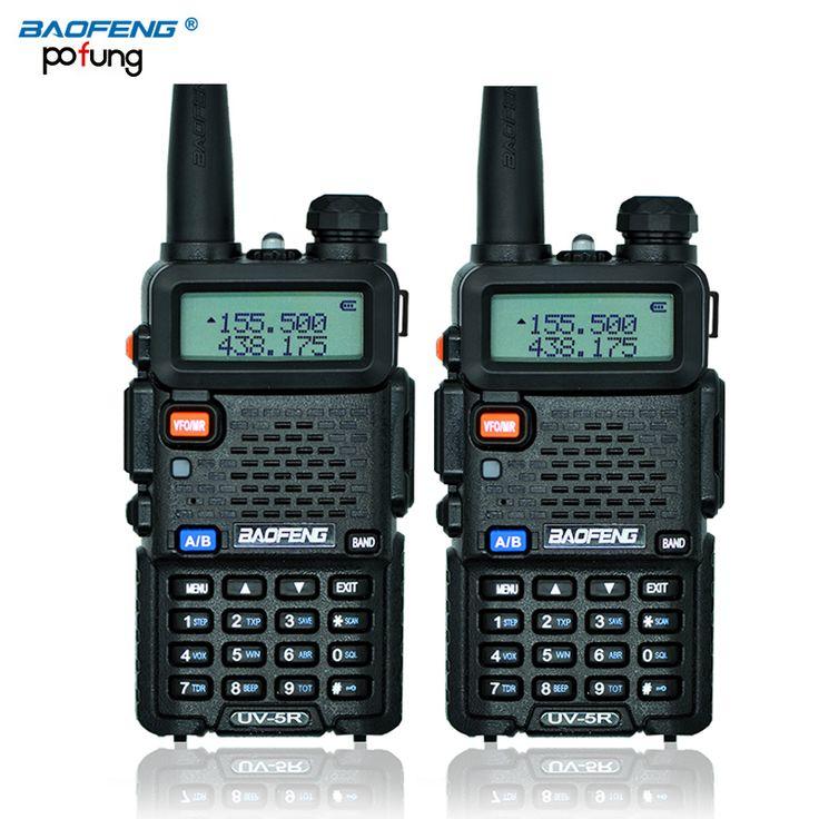 Russian stock 2PCS Black BaoFeng UV-5R talkie walkie transceiver CB radio baofeng uv5r 5W VHF UHF Dual Band  two way radio