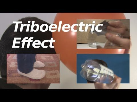 Triboelectric effect/series or triboelectricity - YouTube