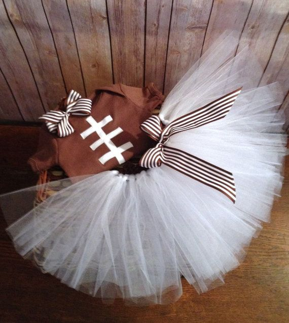 Baby Girl Football Outfit Football Tutu Children's by SESstyles