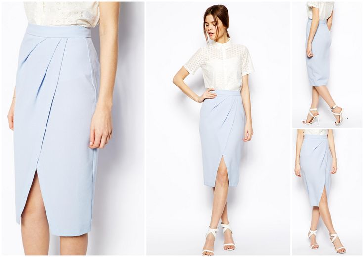 Trend - Tulip skirt. Super office-friendly and should look great in darker tones too (Olive, Navy, Wine Red?)  http://www.asos.com/asos/asos-drape-tulip-skirt-in-crepe/prod/pgeproduct.aspx?iid=3916975&clr=Paleblue&SearchQuery=tulip+skirt