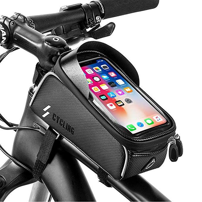 Yehobu Bike Frame Bag Handlebar Bag Mountain Bicycle Phone Holder