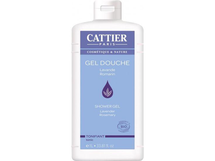 Cattier – Gel de dus bio tonifiant cu lavanda si rozmarin (1L)