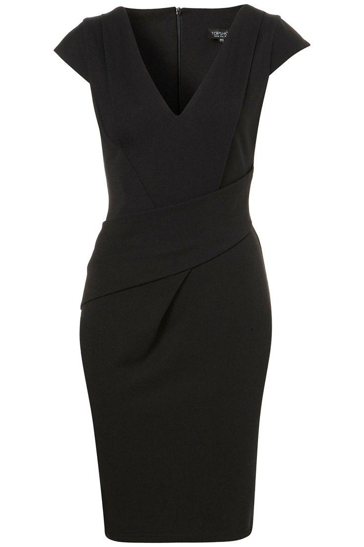 Zoom in: Uk Fashion, Black Pencil Dresses, Neck Pencil, The Offices, Little Black Dresses, Offices Wear, Dresses Work, Work Dresses, Classic Black Dresses