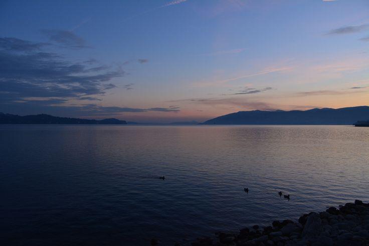 Tramonto da Intra - Sunset on Maggiore Lake - null