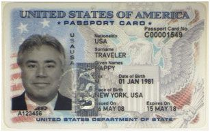 US Passport Card information for traveling ground and water.