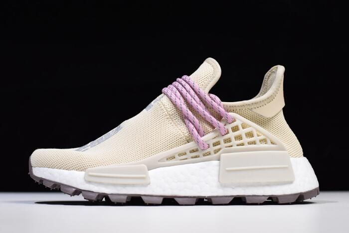 "6ff3efa11a4ca 2018 Pharrell Williams x adidas Human Race NMD Hu ""NERD"" Cream White Pink  EE8102"