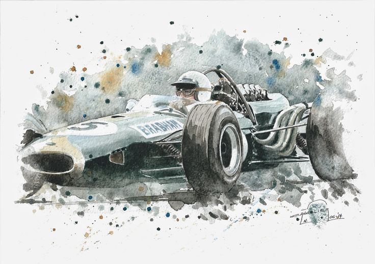 Nicolas Cancelier art automobile/Automotive art: Brabham
