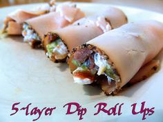 Eating Bariatric: 5-layer Dip Roll Ups