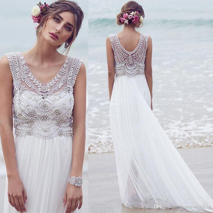 Beach Wedding Gowns Pinterest: Bridal Gowns Anna Campbell Maternity Wedding Dresses 2015
