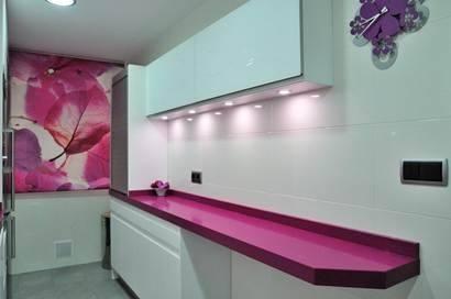 Cocinas cocina moderna modelo lisboa seda con encimera de for Cocinas silestone colores