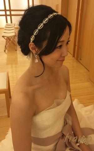 やわらかアップからハーフダウンへ♡可愛い花嫁さまの素敵な一日 |大人可愛いブライダルヘアメイク『tiamo』の結婚カタログ