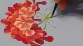 one stroke painting - YouTube