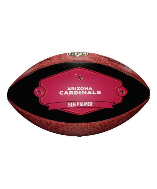 Arizona Cardinals Badge of Honor Personalized Football