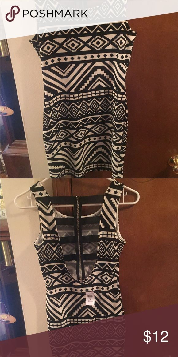 Patterned Bodycon Dress Aztec Design Bodycon Dress. Never worn, perfect condition! Body Central Dresses Backless