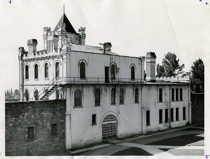 This is a view of the Utah State Prison, at what is now Sugar House Park, in 1936.
