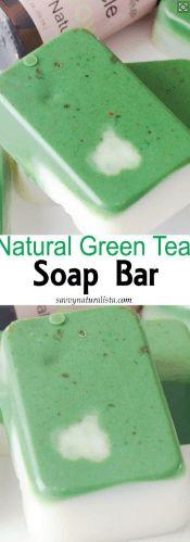 Green Tea Swirl Soap Barsrnrn