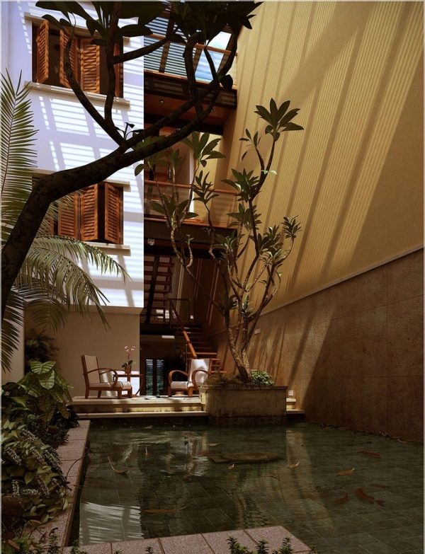 35 best Indoor Pond images on Pinterest   Garden layouts ... on Courtyard Pond Ideas id=98620