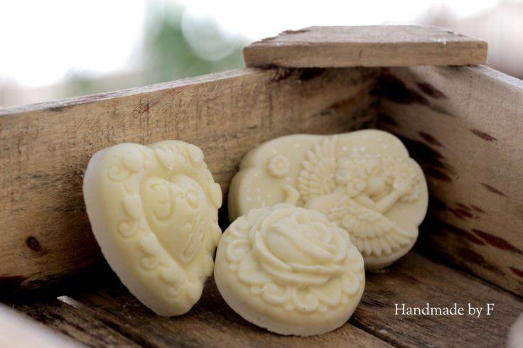 Olive oil castile soap in 3 shapes by HandmadebyFotini on Etsy