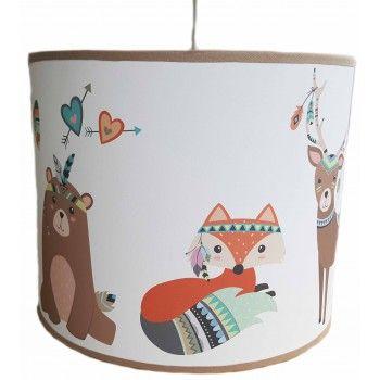 Hanglamp dieren vos en beer