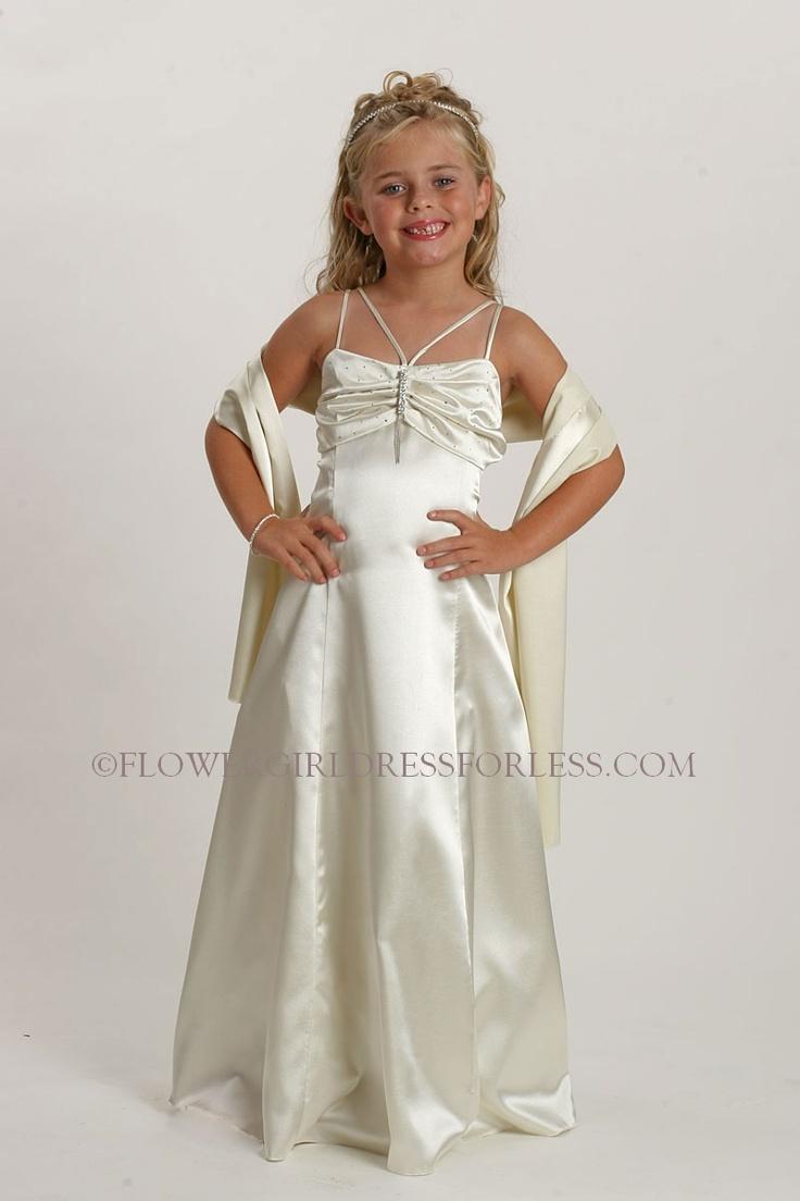 34 best classic satin flower girl dresses images on Pinterest ...