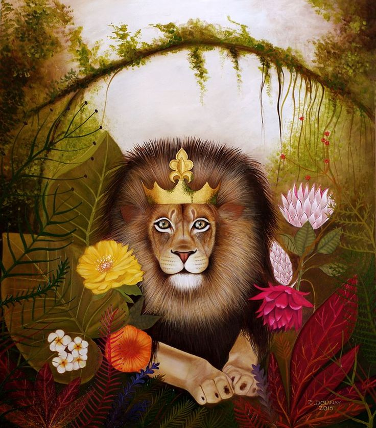 King of the Jungle, Zuzana Dolinay, oilpaint, http://on.fb.me/1viO90s