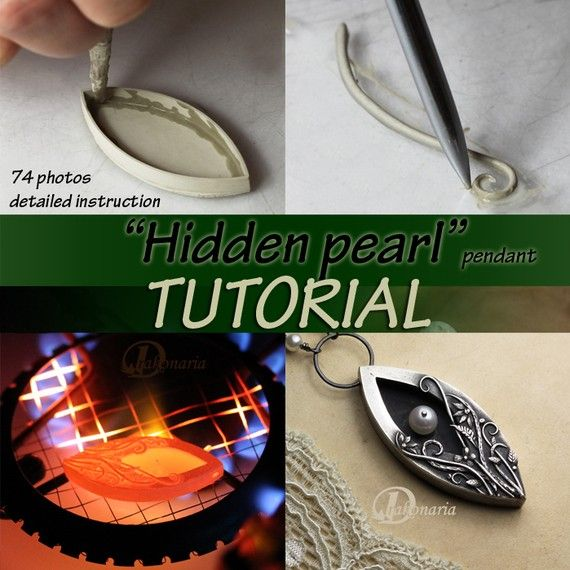 """I am delighted to present """"Hidden pearl"""" pendant as my second tutorial. This project is much more complicated than """"Frozen leaves"""" earrings. I recommend it to those who have already worked with metal clay technique, or VERY ambitious beginners :). Pendant Hidden pearl is very interesting, romantic proposal, for those who want to learn making floral ornaments and slender, spatial forms. Being quite advanced this tutorial doesnt present basics of working with metal clay (for example checking…"""