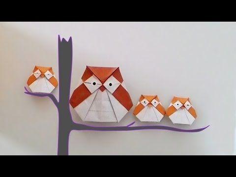 Origami Owl (พับกระดาษ นกฮูก..น่ารัก)