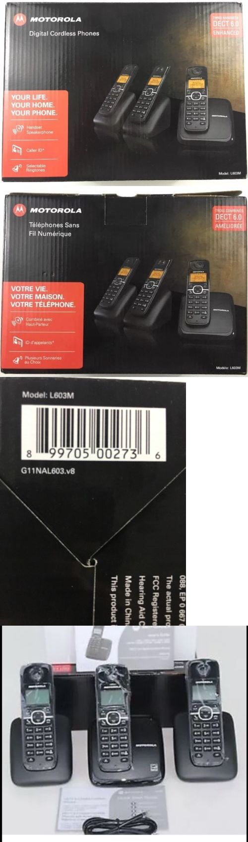 Cordless Telephones and Handsets: Motorola L603m Cordless Home Phone With 3 Handsetset Detect 6.0 (Brand New } -> BUY IT NOW ONLY: $39.99 on eBay!