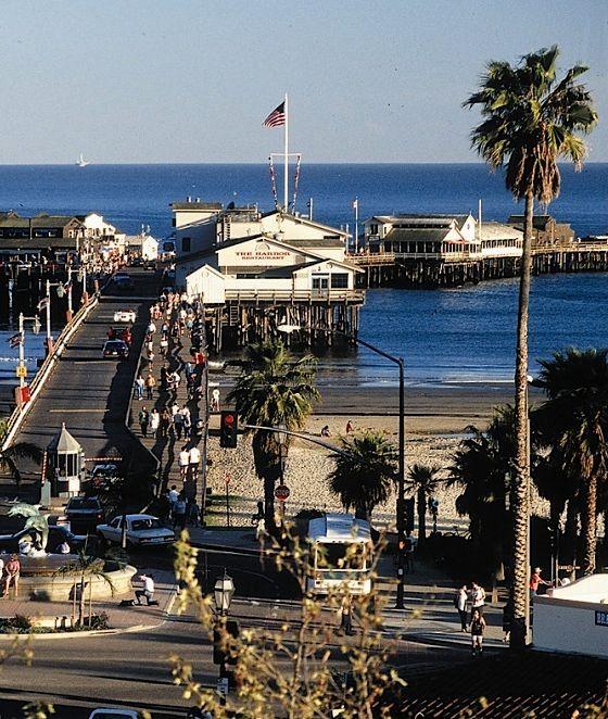 Stern's Wharf in Santa Barbara, California -- shops and restaurants on the wharf.