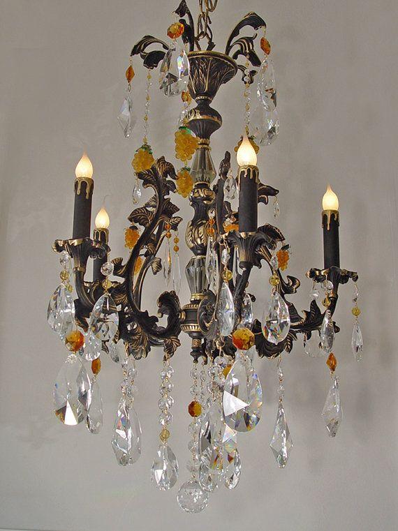 21 X 32 Heavy Brass Crystal Chandelier By Sharonschandeliers