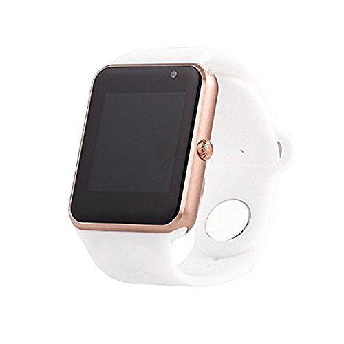 AIYIBEN U7 Bluetooth Touch Screen Bluetooth 3.0 Smart watch Wrist Watch Phone Watch for iPhone Samsung Sony LG HTC and Much more (Gold+White). Widely compatibility: Compatible with all Android IOS systems Smart phone, Smart Tablets and so on. Simple connection via Bluetooth.This U7 smart watch can received text messages, access to phone book, mail, set alarm clock and other useful feature. Multifunction: Support multi-language, SIM calls, Bluetooth voices calls, Pedometer, Sedentary...