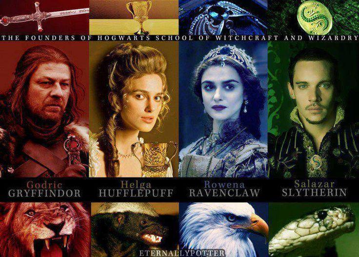 Las casa de Hogwarts :)