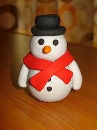 kerstdecoratie-maken-fimo-klei-knutselen-sneeuwman-maken