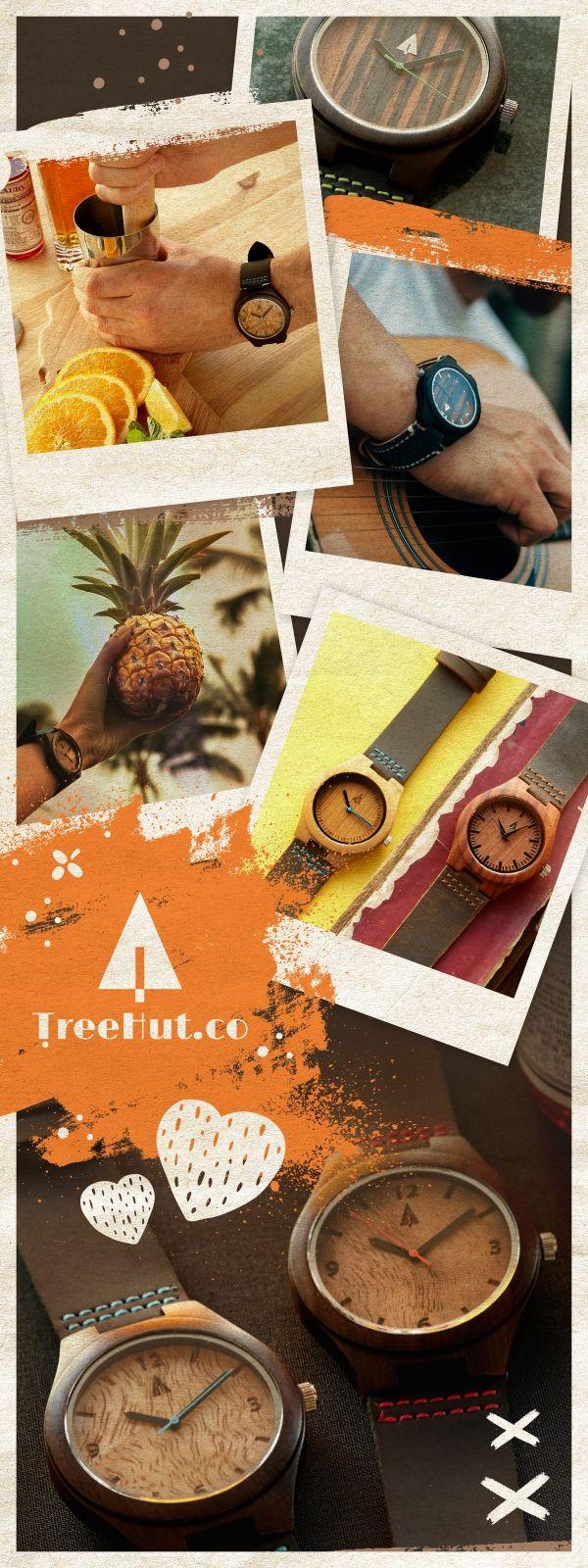 Tree Hut watches #woodwatch #wood #watch #handmade #clock #gift #treehut