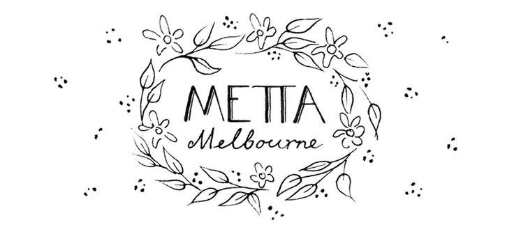 Metta Melbourne Clothing label design