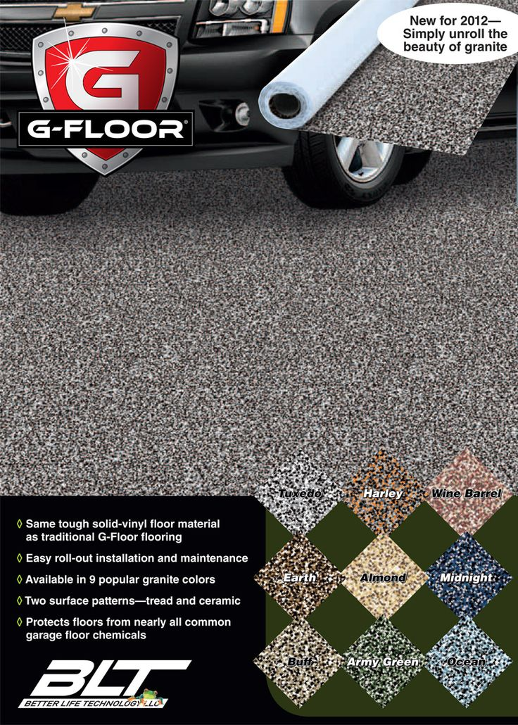 Epoxy floor made easy, just roll it out! Strong, durable, stain resistant, made in the USA! #Flooring #DIY #DIYFlooring