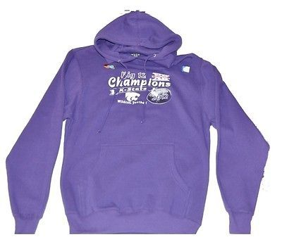 Kansas State Wildcats Blue 84 Big 12 Football Champions Purple Hoodie (S)