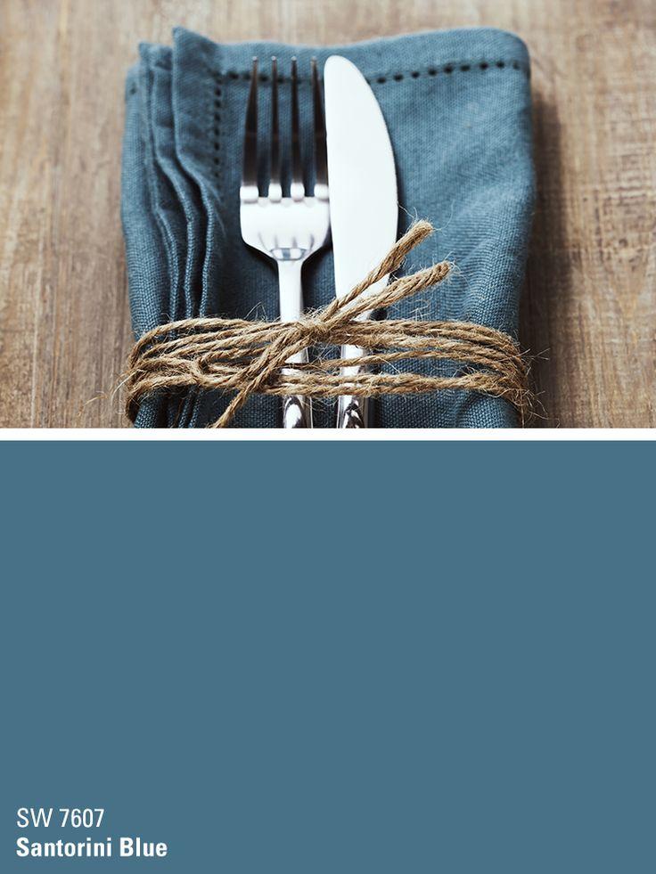 49 best grey lime green decor images on pinterest for Santorini blue paint