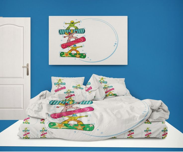 Snowboard Kids Comforter Set from Kids Bedding Company