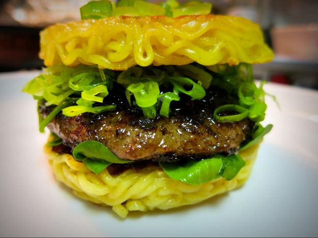 How to Make A Ramen Burger  |  Not so very long ago, at a food market in Brooklyn, a very special burger was born.